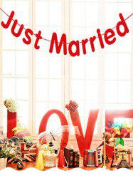 1 PC Wedding Decoration Just Married Pattern Party Banner -