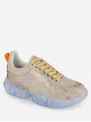 Holographic Diamante Running Sneakers -