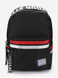 Sporty Letter Graphic Zip Casual Backpack -