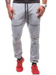 Leisure Style Solid Color Jogger Pants -