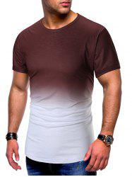 Short Sleeves Ombre Print T-shirt -