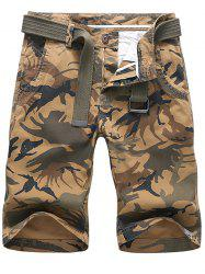 Camouflage Print Design Casual Shorts -