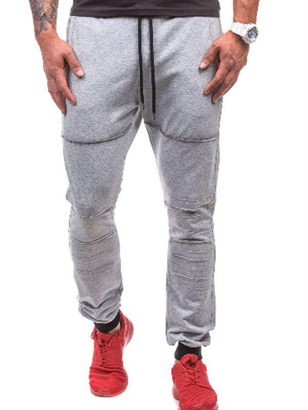 Discount Leisure Style Solid Color Jogger Pants