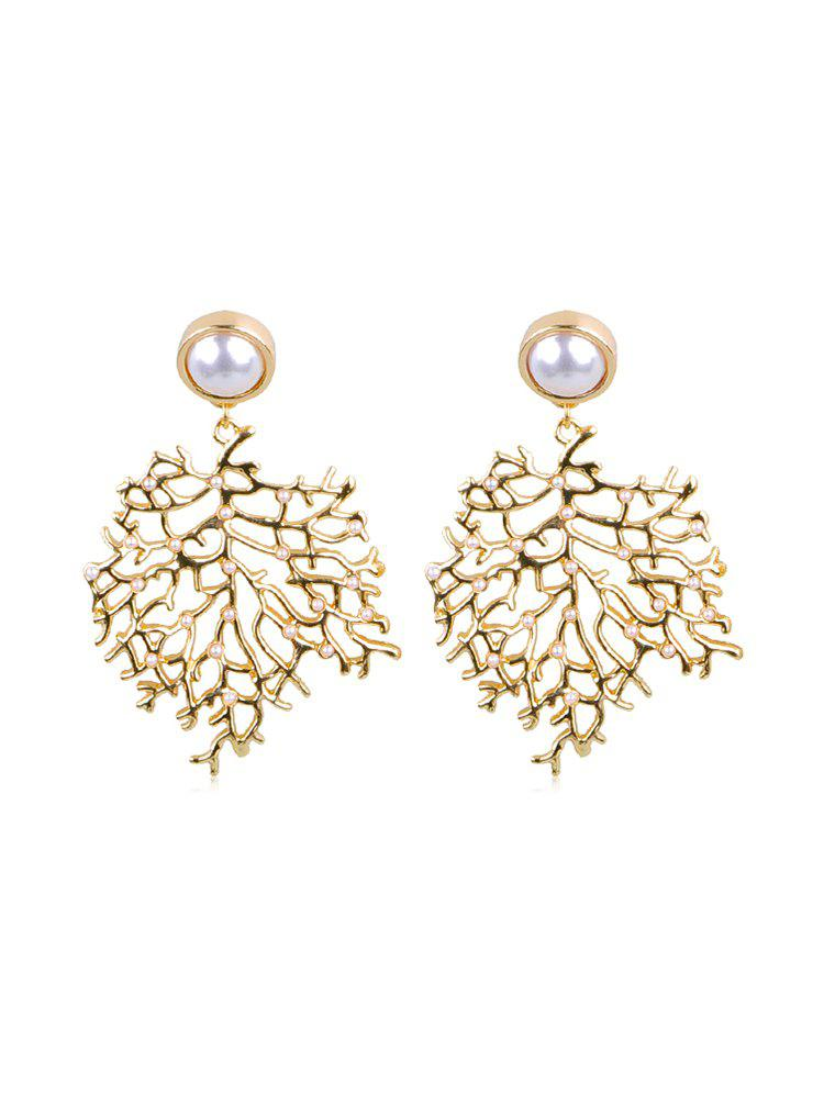 Fancy Artificial Pearl Tree Shape Earrings
