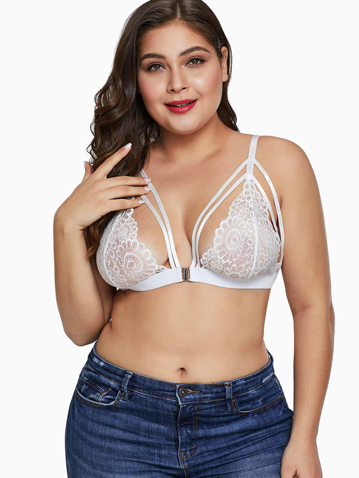 Unlined Plus Size Lace Bra