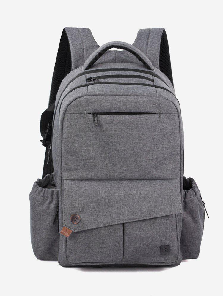 Affordable Solid Pockets Design Diaper Mother Backpack