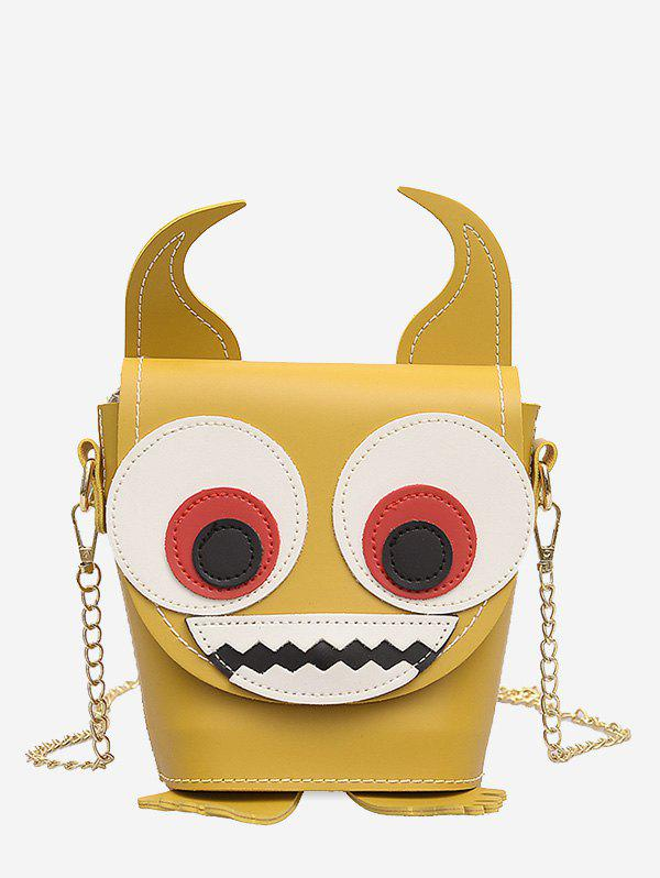 Cartoon Demon Face Pattern Jointed Shoulder Bag