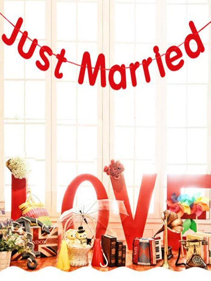 Hot 1 PC Wedding Decoration Just Married Pattern Party Banner