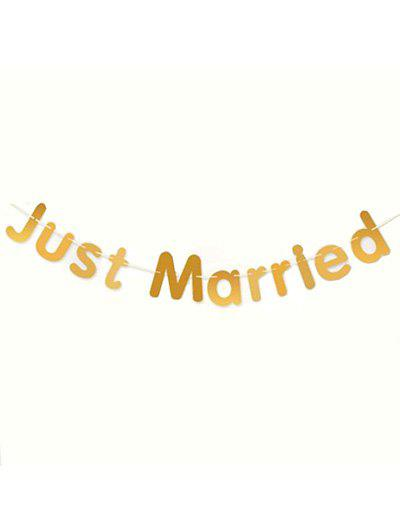Trendy 1 PC Wedding Decoration Just Married Pattern Party Banner