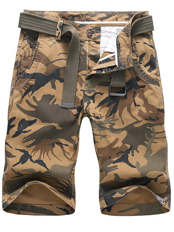 Chic Camouflage Print Design Casual Shorts