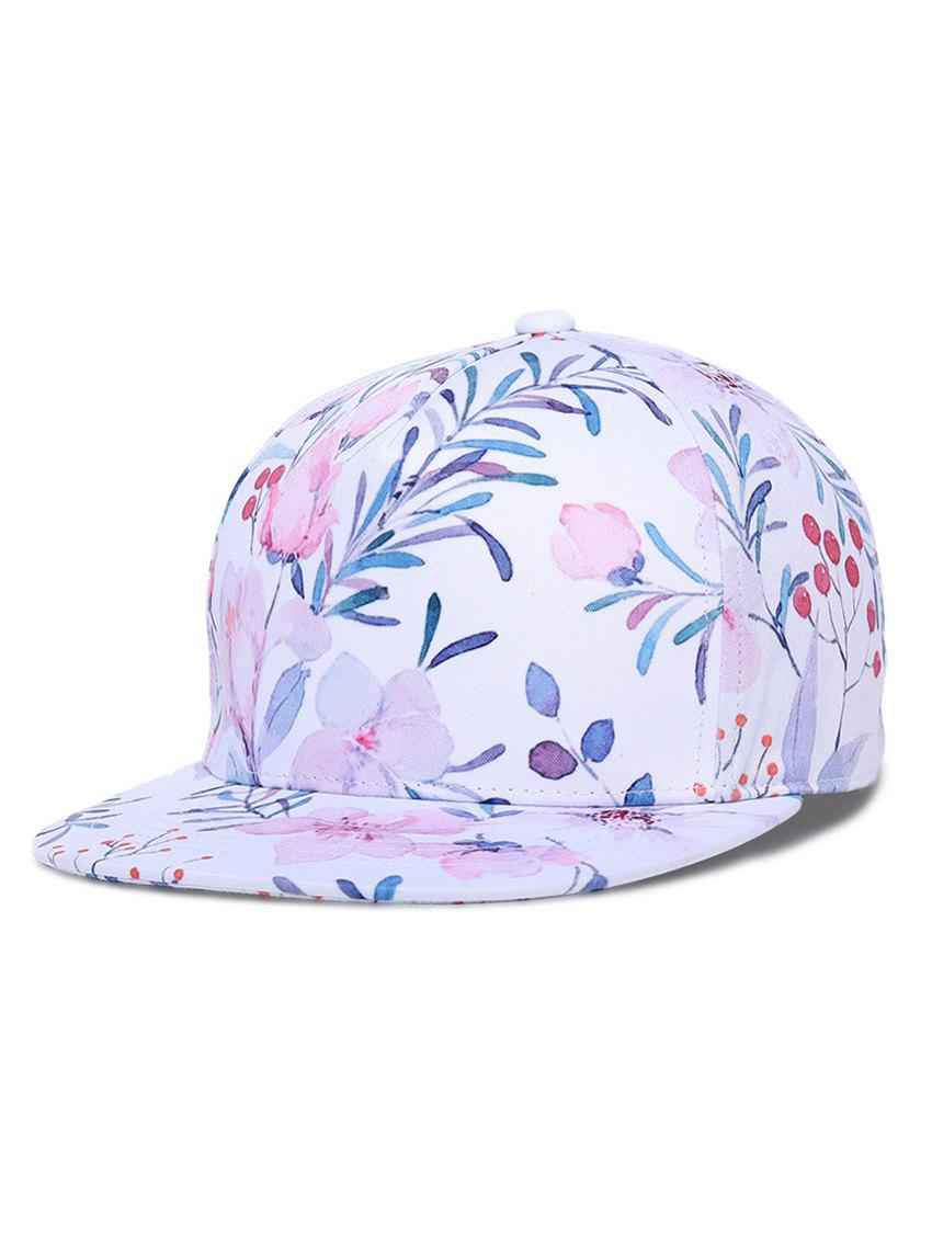 Fancy Hip-hop Chinese Painting Pattern Flower Baseball Hat