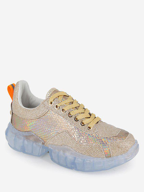 Shops Holographic Diamante Running Sneakers