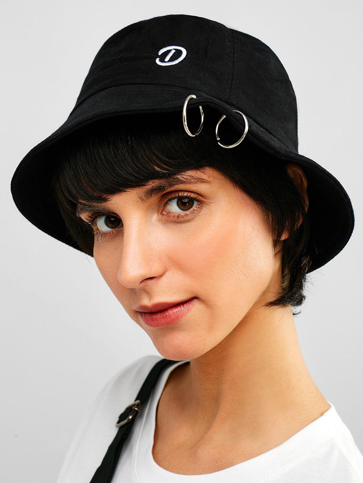 5a6d7e547c336 30% OFF  Grommet Embroidered Bucket Hat