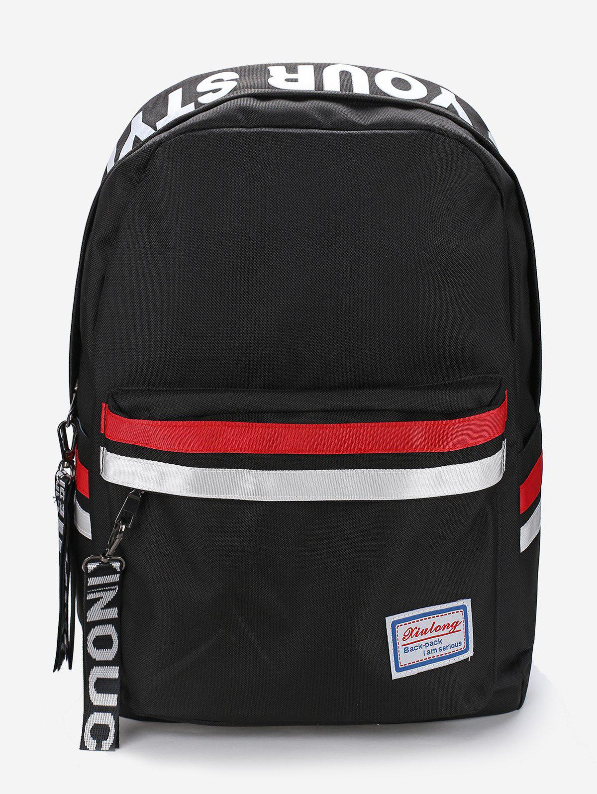 Hot Sporty Letter Graphic Zip Casual Backpack