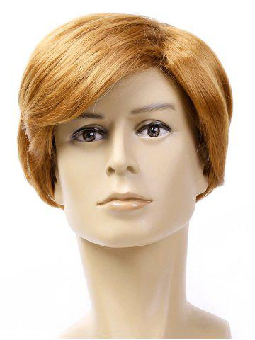 Side Part Short Straight Men Synthetic Wig
