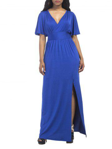 Maxi Surplice Slit High Waisted Dress