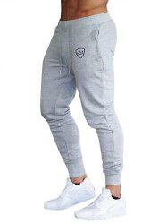Crown Print Drawstring Jogger Pants -