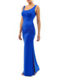 Maxi Ruched Slit Bodycon Dress -
