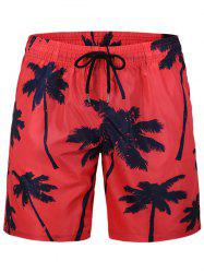 Coconut Tree Printed Board Shorts -