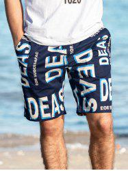 Letter Printed Casual Board Shorts -