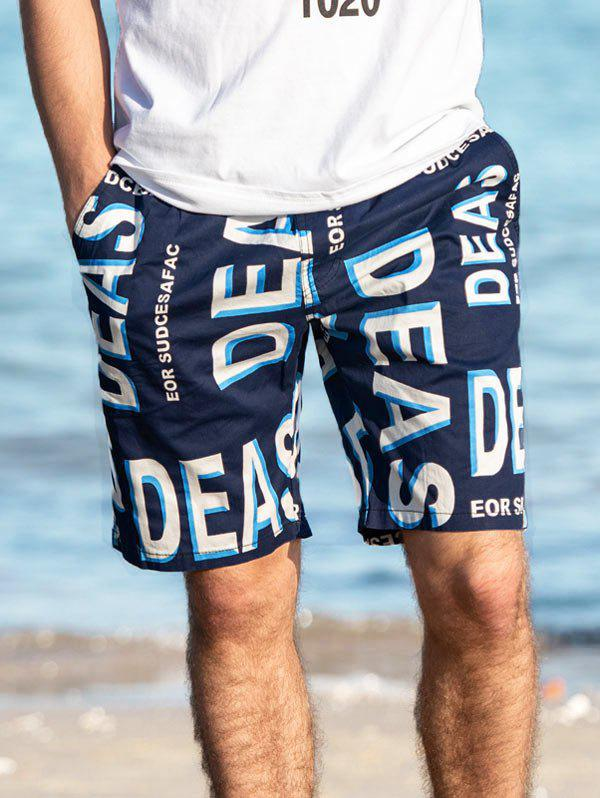 Hot Letter Printed Casual Board Shorts