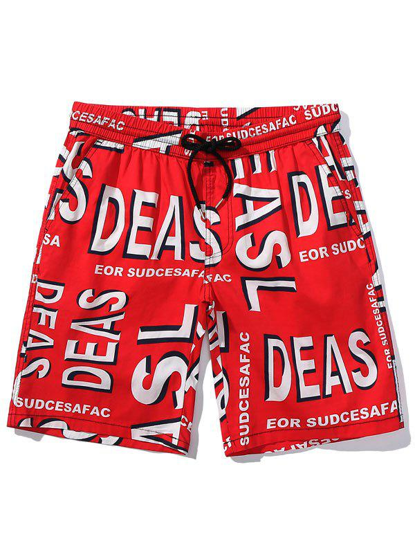 b74045f097 28% OFF] Letter Printed Casual Board Shorts | Rosegal