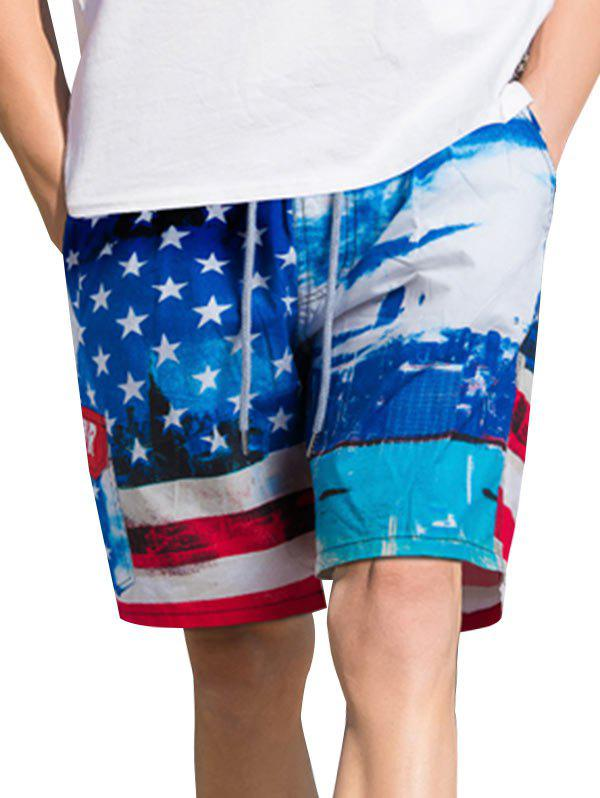 Best American Flag Print Casual Board Shorts