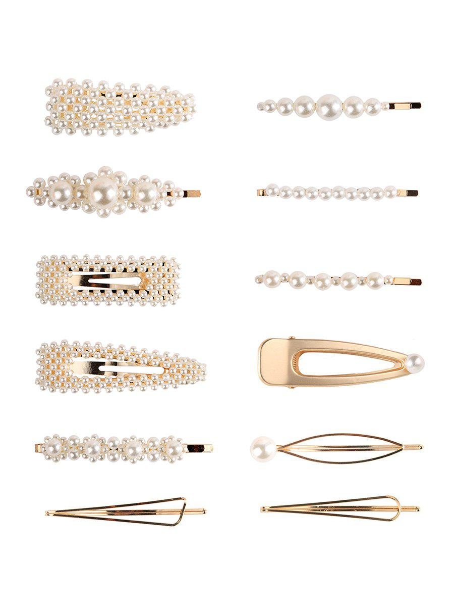 Artificial Pearl 12Pcs Hairpins Set