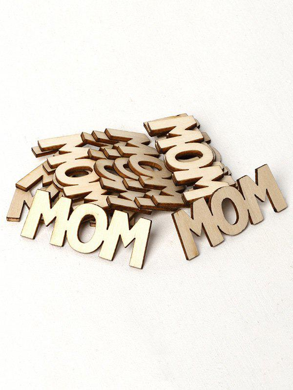 Outfit 15PCS Mom Sign Wooden Decoration