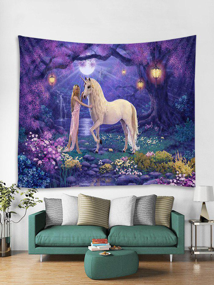 Outfit Unicorn Flower Tapestry Art Decoration