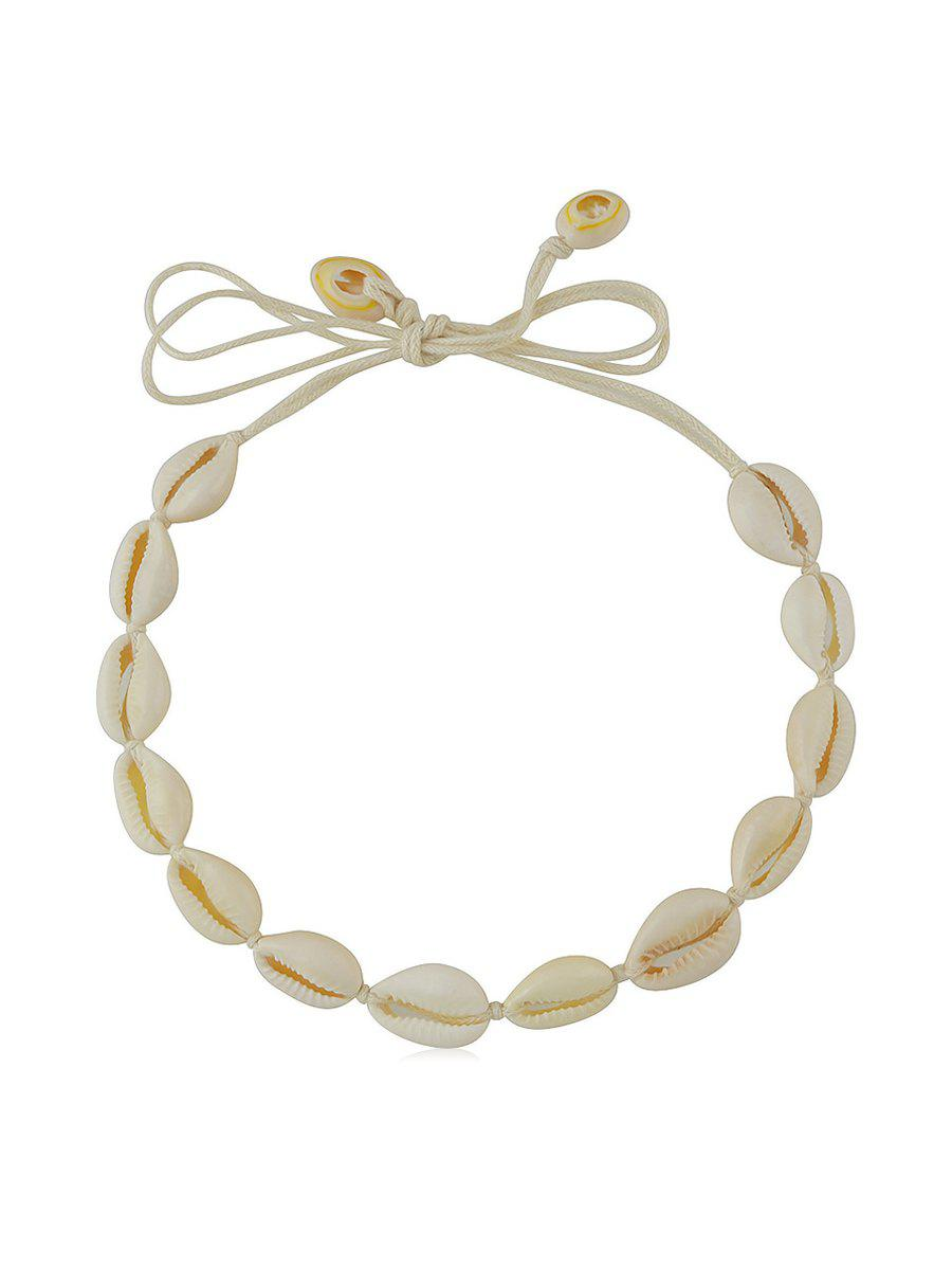 Shop Cowrie Shell Rope Beach Choker Necklace