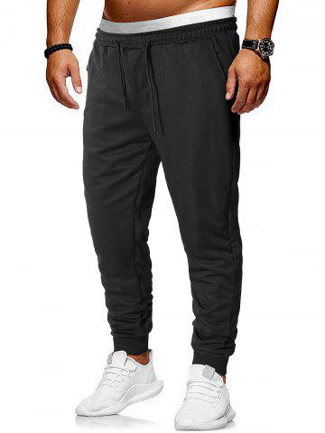 Zipper Pocket Design Jogger Pants