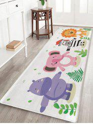 Elephant Zebra Lion Print Kids Bath Rug -