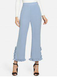 High Waisted Ruffle Ninth Pants -