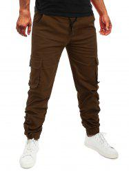 Pocket Drawstring Decoration Jogger Pants -