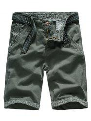 Flanging Design Casual Cargo Shorts -