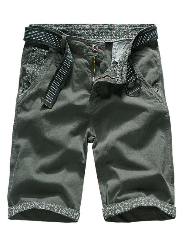 Buy Flanging Design Casual Cargo Shorts