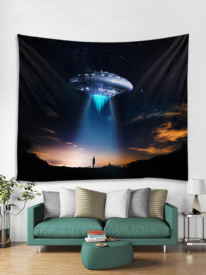 Shop Starry Sky UFO Print Tapestry Wall Hanging Art Decoration