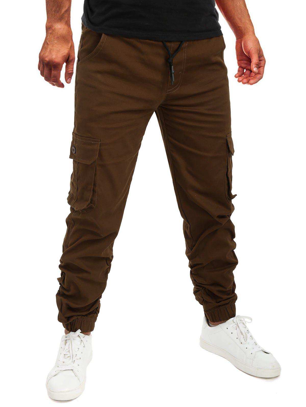 Sale Pocket Drawstring Decoration Jogger Pants