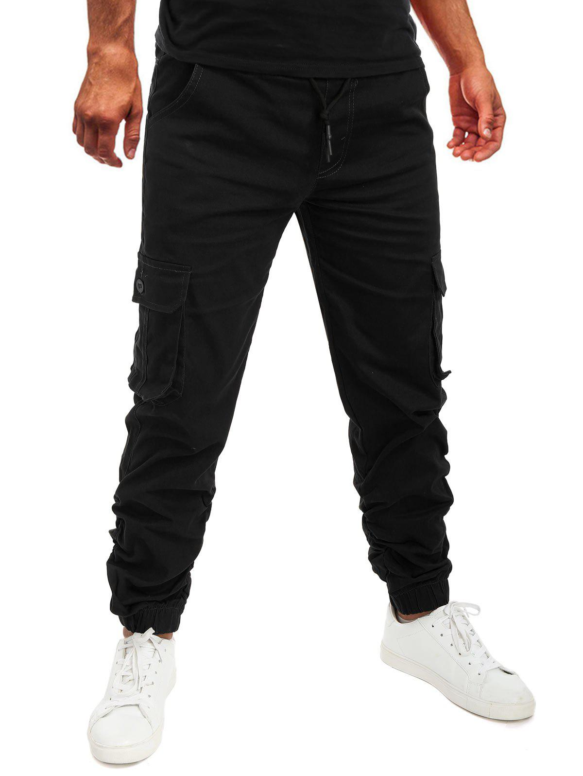 Hot Pocket Drawstring Decoration Jogger Pants