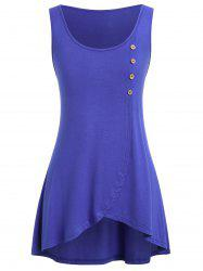 Plus Size High Low Tunic Tank Top -