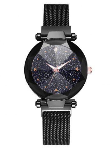 Round Dial Starry Wrist Quartz Watch