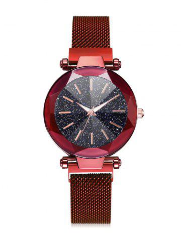 Magnetic Buckle Starry Dial Quartz Watch