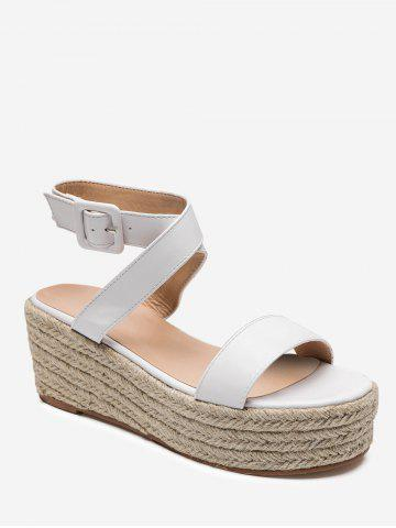 Cross Strap Espadrilles Platform Sandals