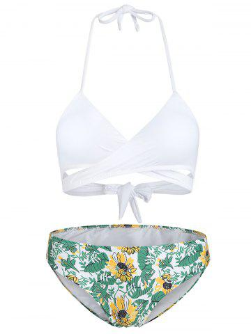 Sunflower Hollow Out Halter Bikini Set