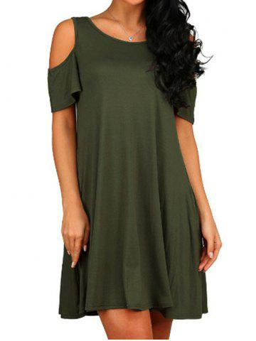 Cold Shoulder A Line Dress