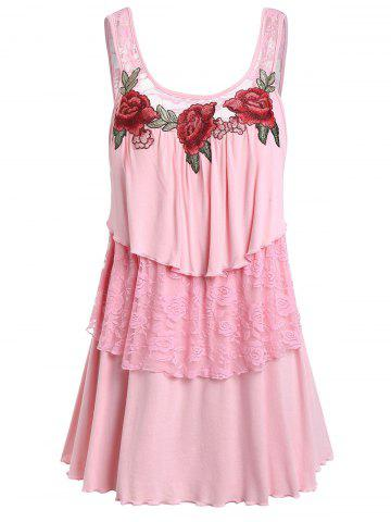 Embroider | Tank | Lace | Plus | Size | Top