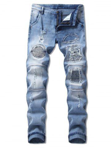 Casual Patchworks Decoration Jeans