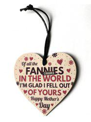 Engraved Flower Mother Day Wooden Hanging Decoration -