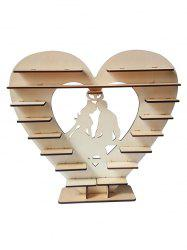 Lovers Heart Wood Wedding Chocolate Shelf Decoration -